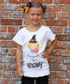 Take a look at this White Pumpkin Girl Personalized Tee - Infant, Toddler & Kids by Gus & Lola on #zulily today!