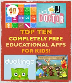 *** Top 10 Completely Free Educational Apps For Kids! — March 10, 2014! http://www.smartappsforkids.com/2014/03/top-10-completely-free-educational-apps-for-kids-march-10-2014.html