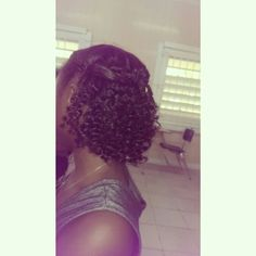 My bantu knot out results on blow dried hair. #Curls!!