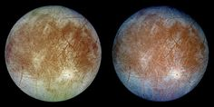 Nasa Europa by the Numbers - Galileo Galilei discovered Jupiter's moon Europa in More than four centuries later, astronomers are still making discoveries about its icy surface. Nasa Solar System, Solar System Exploration, Space Exploration, Jupiter's Moon Europa, Jupiter Moons, Advantages Of Solar Energy, Interstellar, Constellations, Space Probe