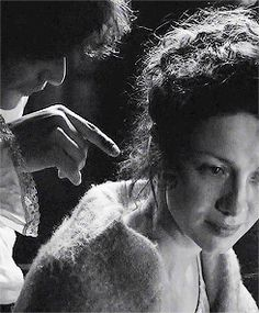 """""""Mo Nighean Donn."""" (My brown-haired lass.)  - Jamie to his wife, Claire  #Outlander  1.07  The Wedding"""
