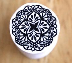 Polymer Clay Workshop - black and white mandala cane