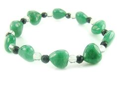 BB0661 Aventurine Onyx Clear Quartz Natural Crystal Gemstone Stretch Bracelet - See more at: http://waggashop.com/wagga-shop-bb0661-aventurine-onyx-clear-quartz-natural-crystal-gemstone-stretch-bracelet