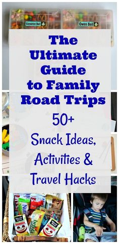 Snack ideas, games & activities for car trips with the kids!!  Things to do on family road trips