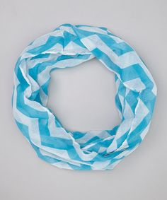 Loving this Blue Check It Out Chevron Infinity Scarf on #zulily! #zulilyfinds