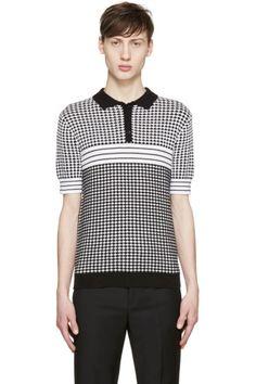 Carven - Black & White Knit Polo