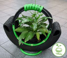 Nice planter from an old tire