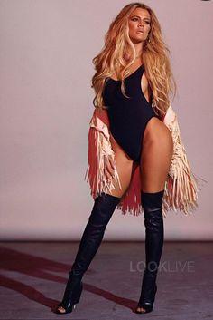 Khloé Kardashian wearing  Norma Kamali Marissa Swimsuit
