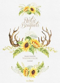 Image result for watercolor sunflower