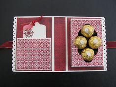 Enfin me revoilà! J'ai eu une semaine bien occupée avec plein de projets à finir en même temps. Je vous avais parlé la dernière fois que j'a... Card Making Tips, Making Ideas, 3d Paper Crafts, Diy And Crafts, Gifts For Cooks, Stampin Up Christmas, Candy Gifts, Paper Cards, Creative Cards