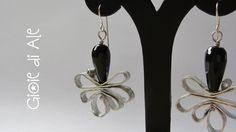 Orecchini in alluminio con gocce di onice nero #gioiediale #lemaddine #lemaddinecreano #bijouxhandmade #handmadejewelry #bijoux #gioie_di_ale #orecchini #jewels #wire #earings #onice #alluminio