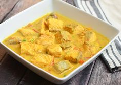 coconut curry salmon is a rich and spicy dish made with salmon chunks cooked in coconut milk and curry