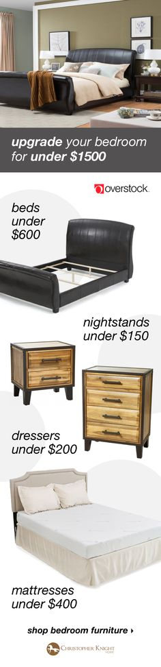 Find everything you need to give your bedroom a refresh at Overstock.com. Shop beds, nightstands, dressers, mattresses, and more new furniture from Christopher Knight Home all at Overstock prices.