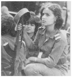 Shadia Abu Ghazali, The first Palestinian female martyr killed while defending her city of Nablus after its by Israeli forces during the 1967 Six-Day War