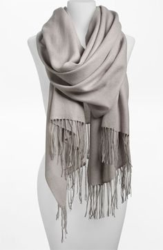 Nordstrom wool & cashmere scarf for traveling, $88.00!