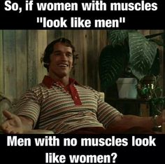 I would like to say this to the non muscular male who tried to discourage me from building muscle.