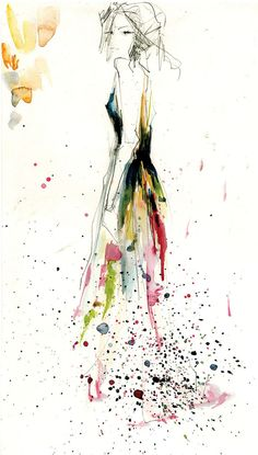 Allure // ORIGINAL FASHION ILLUSTRATION watercolor painting