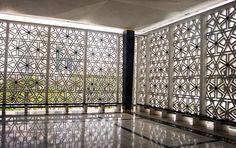 Sydney Mosque concrete Jali pattern