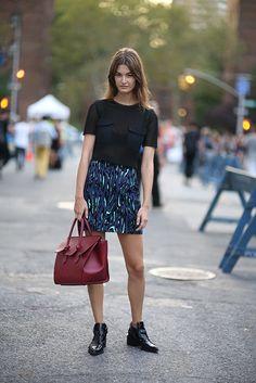 Great Proenza Shouler skirt. NYC  #OphelieGulliermand