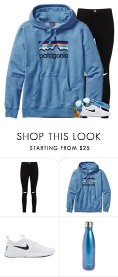 """""""A day in the life of a homeschooler// Read the description"""" by granola24 ❤ liked on Polyvore featuring Boohoo, Patagonia, NIKE, S'well and Ray-Ban"""