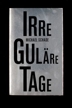 "Irreguläre Tage .  ""Irreguläre Tage"" (Irregular Days) is a book project by the photographer and writer Michael Schade — a student of Arno Fischer and Astrid Klein — which almost saw completion back in 2001. Conceived as a text and image book, it is an autobiographical record of the GDR in its final stages and the first years after the reunification. The book takes the subjective view of a young man growing up maladjusted in the GDR, constantly at odds with social norms."
