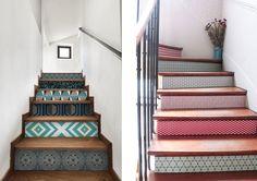 Décorer contremarches escalier