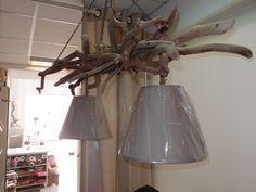 φωτιστικό οροφής από θαλασσοξυλα με καπέλα .....120χ35cm για παραγγελίες τηλ.6976773699...driftwood lamp hanging