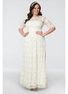 6c1896dbdcee7 Kiyonna Women s Plus Size Lace Illusion Wedding Gown    Check out this  great image   Women clothing