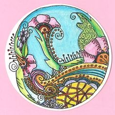 Doodle in the round with color 2