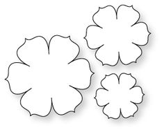 Felt Flower Cut Out Templates Papertrey Ink Beautiful Blooms Ii 1 Collection Set Of 3