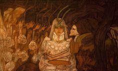 Jan Toorop The three brides 1892 28102016 1 - Category:The Three Brides by Jan Toorop — Wikimedia Commons Bram Stoker's Dracula, Jaba, Dark Art, Great Artists, Third, Horror, Princess Zelda, Symbols, Animation