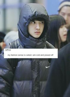 Kyungsoo can't handle the cold. I'm sure Kai woulf be happy to warm you up though. ;)