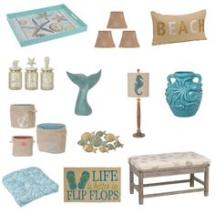 Coastal Cottage Decor at Kirklands: http://www.completely-coastal.com/p/completely-coastal-shopping.html Some of my Favorites (to learn more scroll down and click on images).