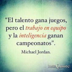 El talento...