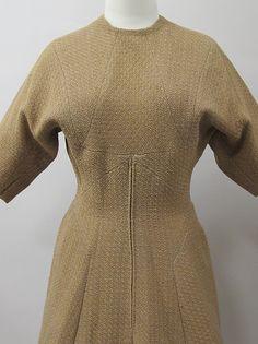 Dress Designer: Charles James (American, born Great Britain, 1906–1978) Date: early 1950s Culture: American Medium: wool Dimensions: Length at CB: 47 in. (119.4 cm)