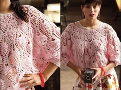 #13 Pineapple Stitch Dolman, Vogue Knitting Crochet 2013 Special Collector's Issue