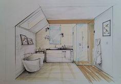 Bathroom_sketch by Magdalena Sobula (Pracownia Projektowa Pe2)