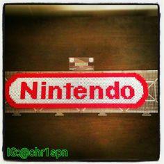 Nintendo logo perler beads by chr1spn