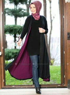 Abaya with Ways to Style Jeans with Abaya Modestly Tesettür Tunik Mod Tesettür Hırka Modelleri 2020 Modest Wear, Modest Dresses, Modest Outfits, Modest Fashion, Hijab Fashion, Muslim Women Fashion, Islamic Fashion, Womens Fashion Online, Latest Fashion For Women