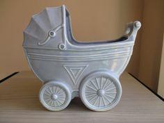 Occupied Japan Blue Baby Buggy Ceramic by UniquelyFoundForYou