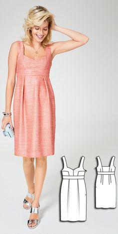 Dress Burda Jun 2016 #115A  Pattern $5.99: http://www.burdastyle.com/pattern_store/patterns/sweetheart-dress-062016