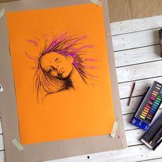 SARAH SLATER / pastel sketch