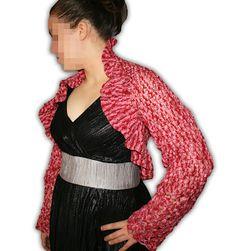 red bolero crochet Bolero Crochet, Red, Fashion, Moda, Fashion Styles, Fashion Illustrations