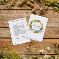 """Whimsical and romantic, our """"Wild About Each Other"""" favor packet adds the perfect touch to your garden inspired wedding. The watercolored design decorates this favor with a timeless and elegant feel.  This packet contains our vibrant Bird and Butterfly Wildflower Mix, that will attract all of your favorite winged friends."""