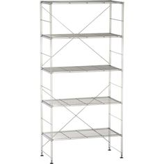Max Chrome 5-Shelf Unit in Bookcases, Shelves | Crate and Barrel 159.00 in store only