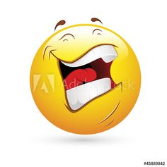 Illustration of Smiley Emoticons Face Vector - Laughing vector art, clipart and stock vectors. Smiley Emoji, Emoji Faces, Emoji Love, Cute Emoji, Silly Faces, Sad Faces, Good Morning Hug, Laughing Photos, Joke Stories