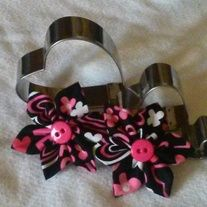 Large Valentine's Double Flower Barrette