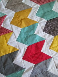 Quackadoodle Quilt Chevron Quilt - I like the chunky rows interspersed with the traditional chevron rows! So cute!!!