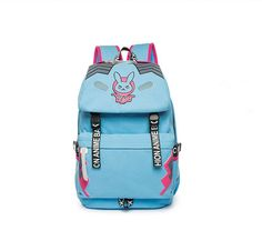 Game OW Cute D.VA BLEACH SOLDIER 76 Printing Casual School Bags Travel Bag Nylon Backpack