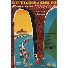 Vuelta a Espana 1960 race poster